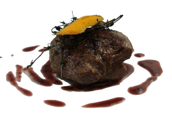 Lammsteak mit Rotweinsoße